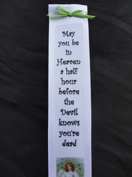 Heavenly Irish Blessing Ribbon Bookmark