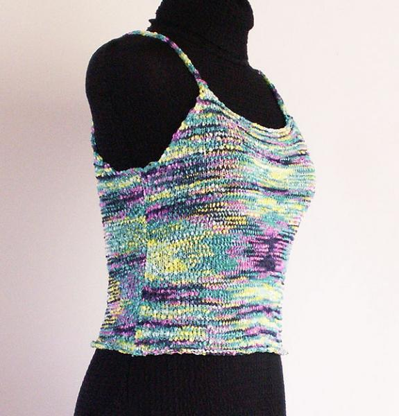 Knitted Camisole in  Vivid Space Dyed Yarn  - Size Small
