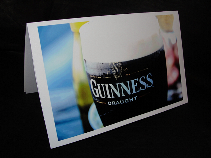Irish Beer Photo Greeting card and Blessing