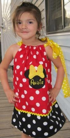 NOW on SALE 5.00 OFF Minnie Mouse Pillowcase Dress Very few available