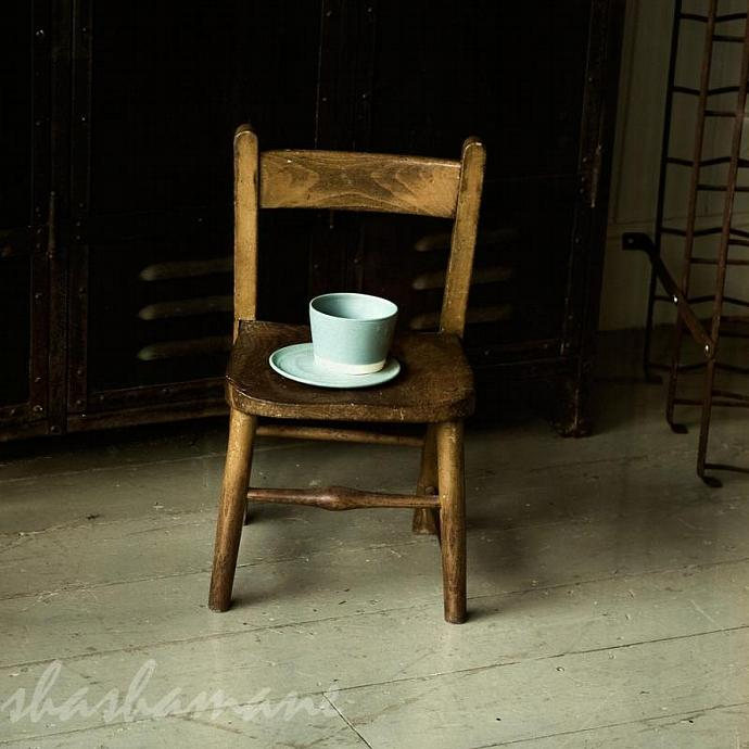 small chair, big cup - square 8x8 photography print