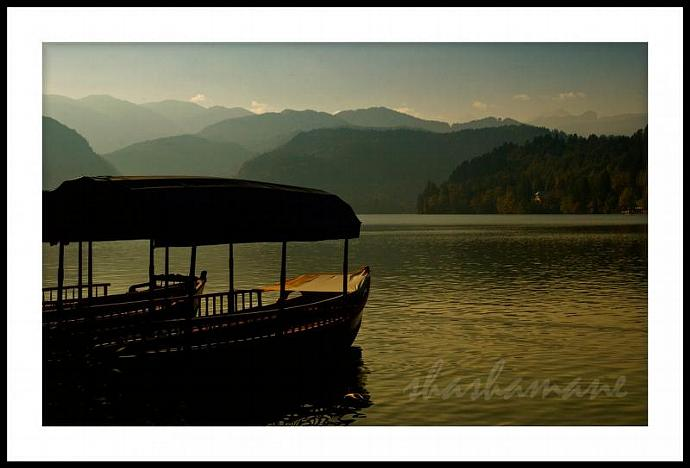 """Float into the dream -- Lake Bled, Slovenia,  5 x 7"""" fine art photography print."""