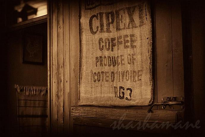 "Coffee muslin sack 5x7"" Fine art photography print"