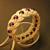 cotton rope bracelet with purple beads turks head knot bracelet beaded bracelet