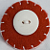 Felt Button Art Pin - Red and White