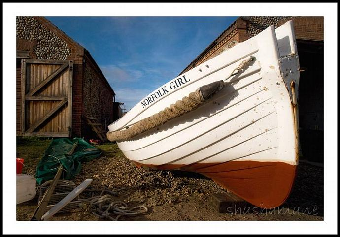 "Norfolk Girl 8x12"" fine art photography print, fishing boat"