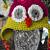 GIRLIE OWL CROCHET EARFLAP HAT 12-24 MONTHS