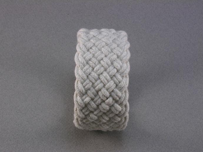 white cotton turks head knot sailor bracelet  large 300