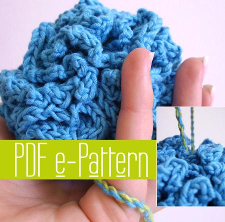 Bath Puff Pdf Crochet Pattern Tutorial By Casadiaries On Zibbet