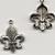 Tibetan Silver Fleur-de-lis Charm