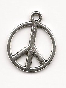 "Tibetan Silver ""Peace Sign"" Charm"