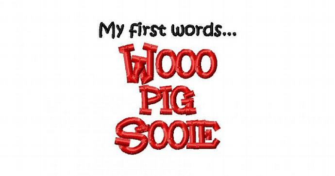 Wooo Pig Sooie Machine Embroidery Design