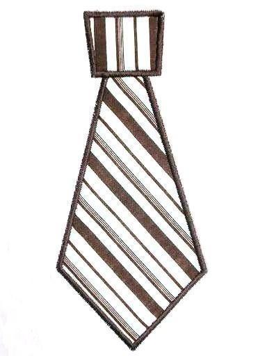 Tie Applique Machine Embroidery Design