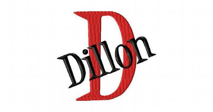 Dillon Font Machine Embroidery Design