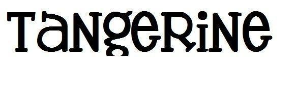 Tangerine Font Alphabet Machine Embroidery Design