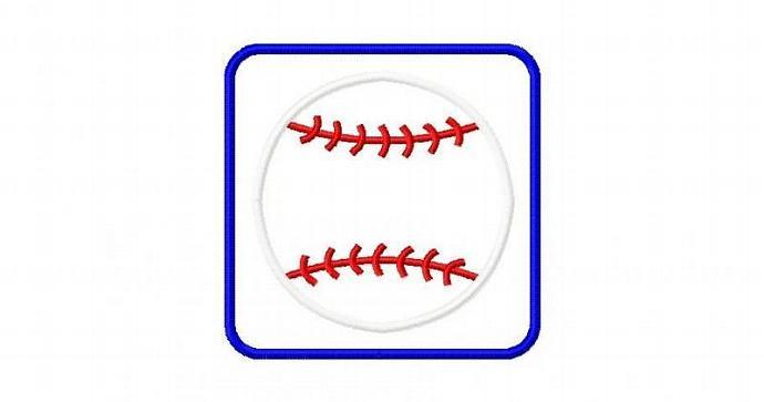Baseball 1 Patch Applique Machine Embroidery Design