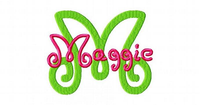 Maggie Font Machine Embroidery Design