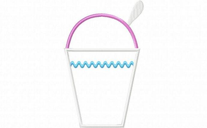 Snowball Cup Applique Machine Embroidery Design