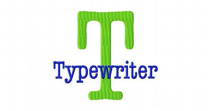 Typewriter Font Machine Embroidery Design