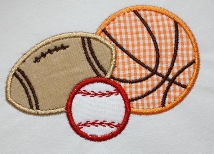 Sports Balls Combo FBB Applique Machine Embroidery Design