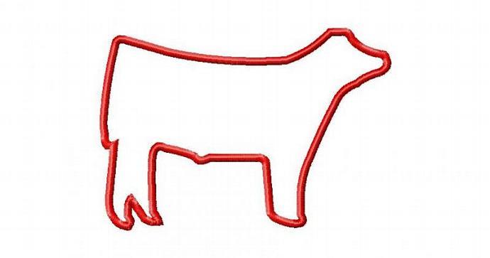 Show Steer Applique Machine Embroidery Design