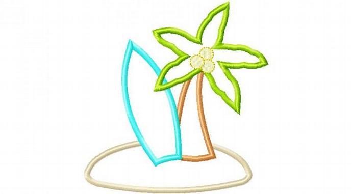 Surfs Up Applique Machine Embroidery Design