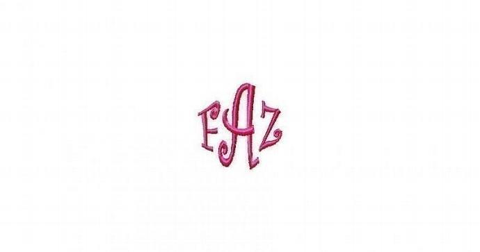 FONT Curlz Wrap machine embroidery design