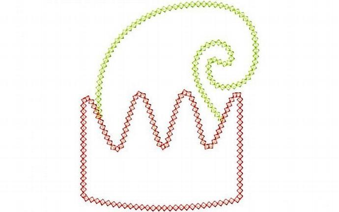 Elf Hat Applique Machine Embroidery Design