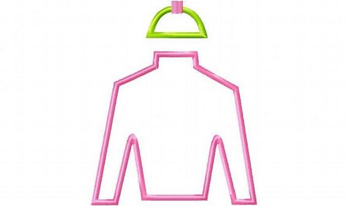 Jockey Silk Applique Machine Embroidery Design