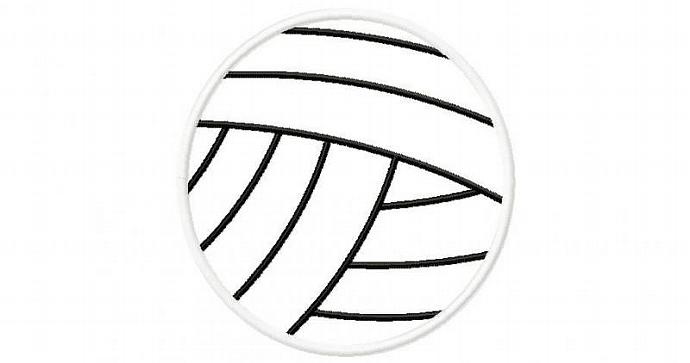 Volley Ball Applique Machine Embroidery Design