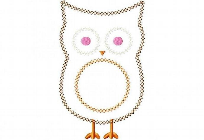Owl 2 Applique Machine Embroidery Design