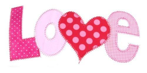 LOVE Applique Machine Embroidery Design