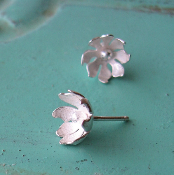 Sterling Wildflower Earrings - Ready to Ship