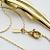 Vintage Monet 14k GP Long Pendant Necklace 28 in.