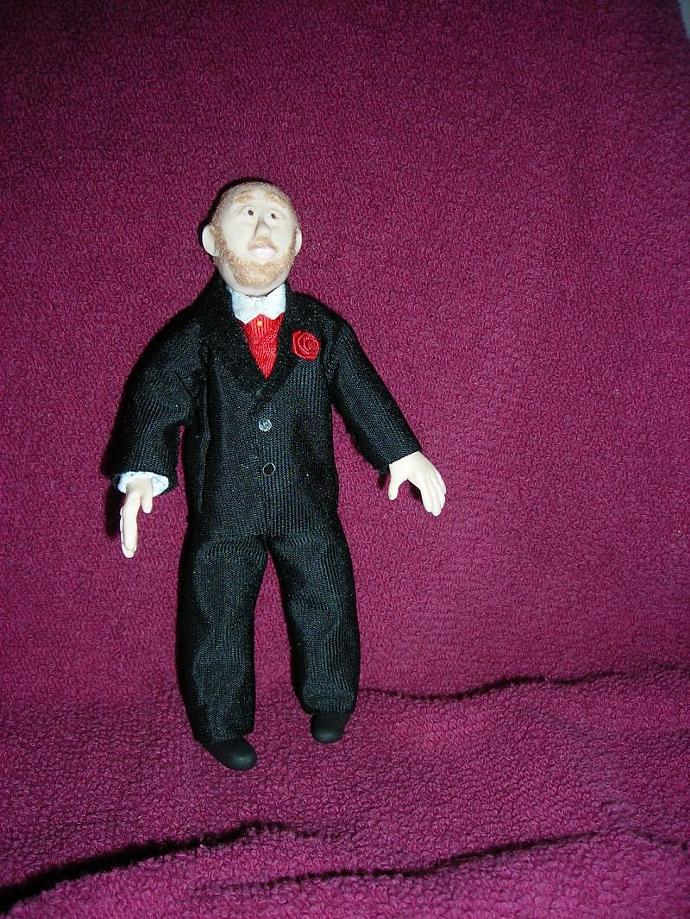 Michael, A One Inch Scale Groom Doll