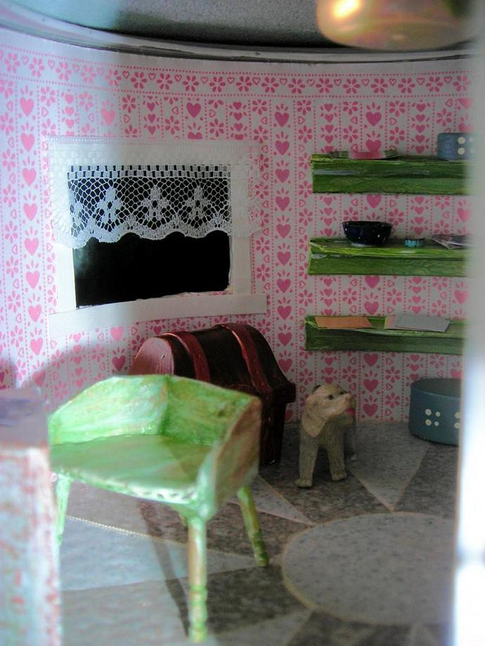 Half Scale Dollhouse Craft Room Box