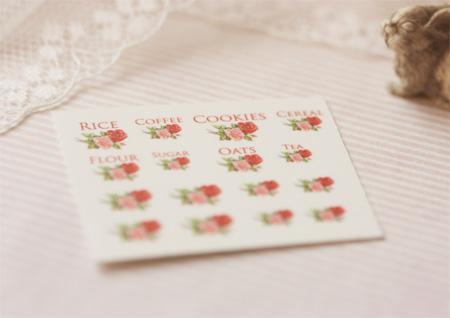 Dollhouse Miniature 1/12 Scale – Kitchen Canister Labels Set 2
