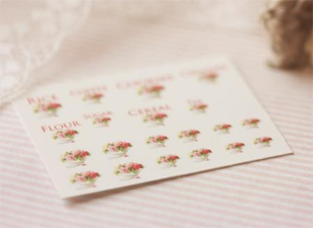 Dollhouse Miniature 1/12 Scale – Kitchen Canister Labels Set 3