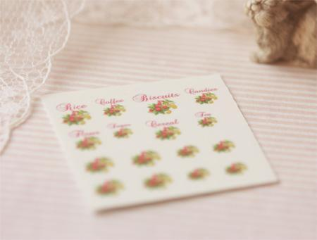 Dollhouse Miniature 1/12 Scale – Kitchen Canister Labels Set 7