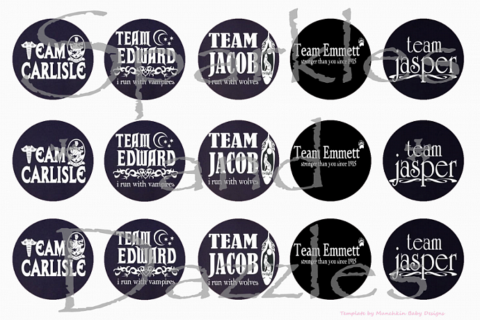 Team Twilight 1 in Bottlecap Images