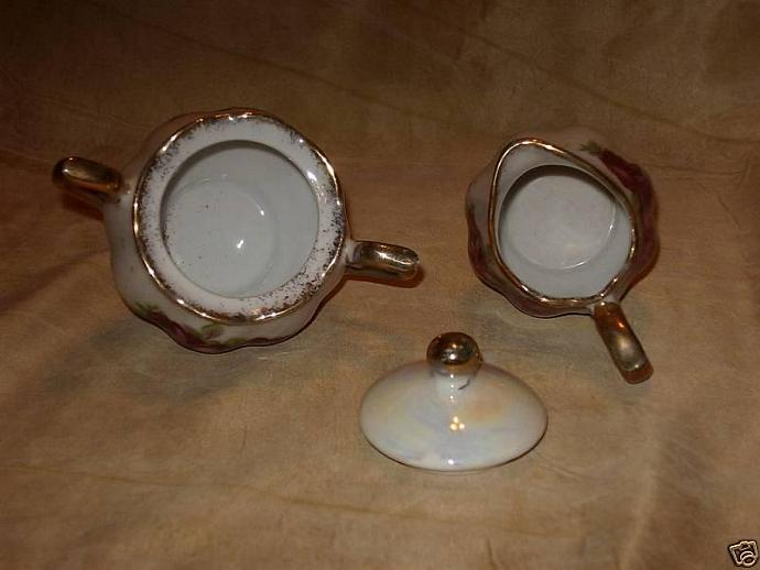 Vintage - Rose China Sugar & Creamer Set - very nice!