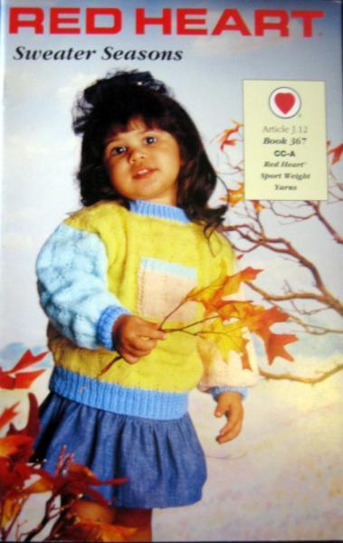 Red Heart Sweater Seasons  Book 367  Knitting Patterns