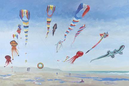 """Kites Aloft"" Giclee Canvas Print by Carol Thompson"