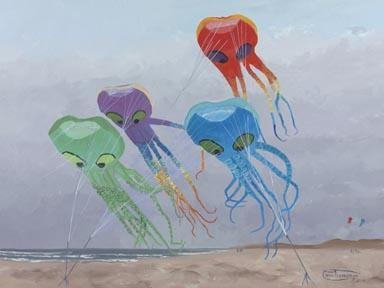 """Octo-Quartet"" Giclee Canvas Print by Carol Thompson"