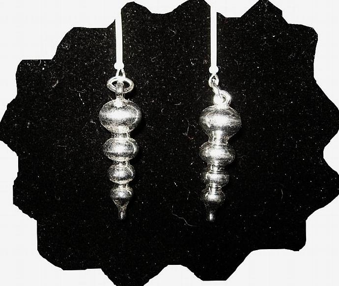 New Silver Porcupine Quill Ornament Earrings