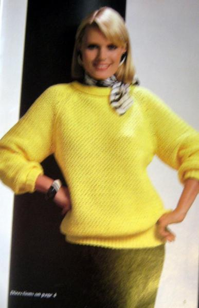 The Big Thing in Sweaters Vintage Crochet Pattern and Knitting Pattern book