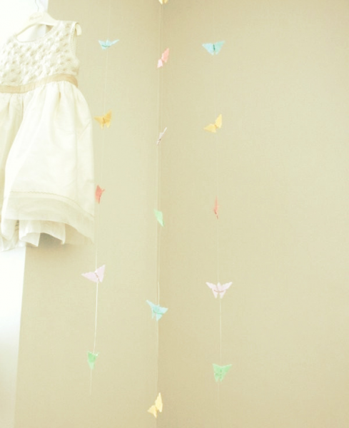Delicate Butterfly Mobile - Long - Multi