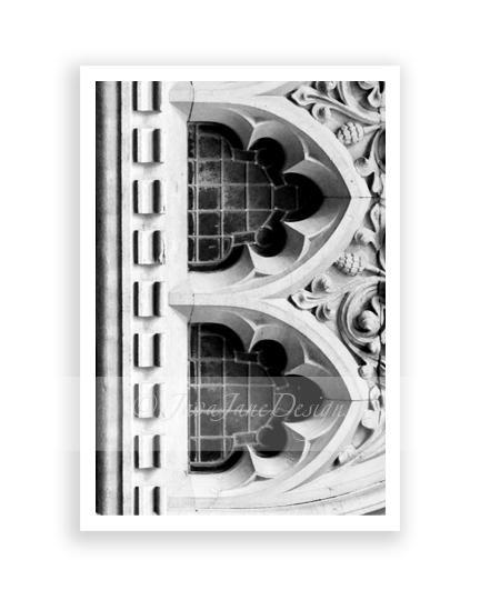Letter B - Alphabet Photography Individual 4x6 Black and White Photo for Name