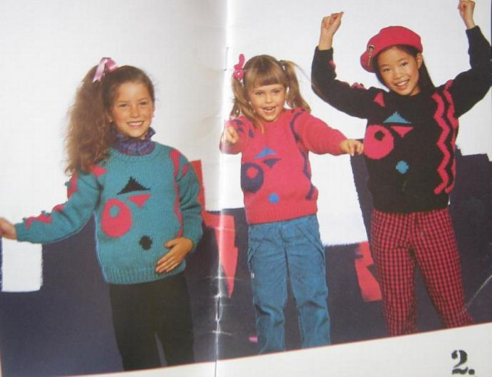 Fun and Games Vintage Knit Children's Sweater Pattern Book