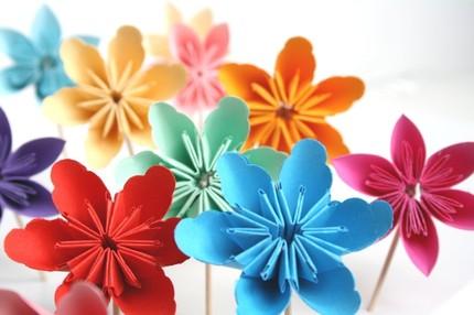 You Choose 12 Millalove Paper Flower Cupcake Toppe